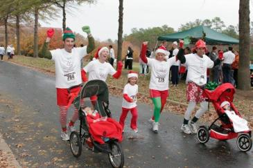 Family Dressed as Elves